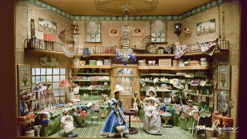 Helen Bruce Miniatures Dioramas - Milliners Shop