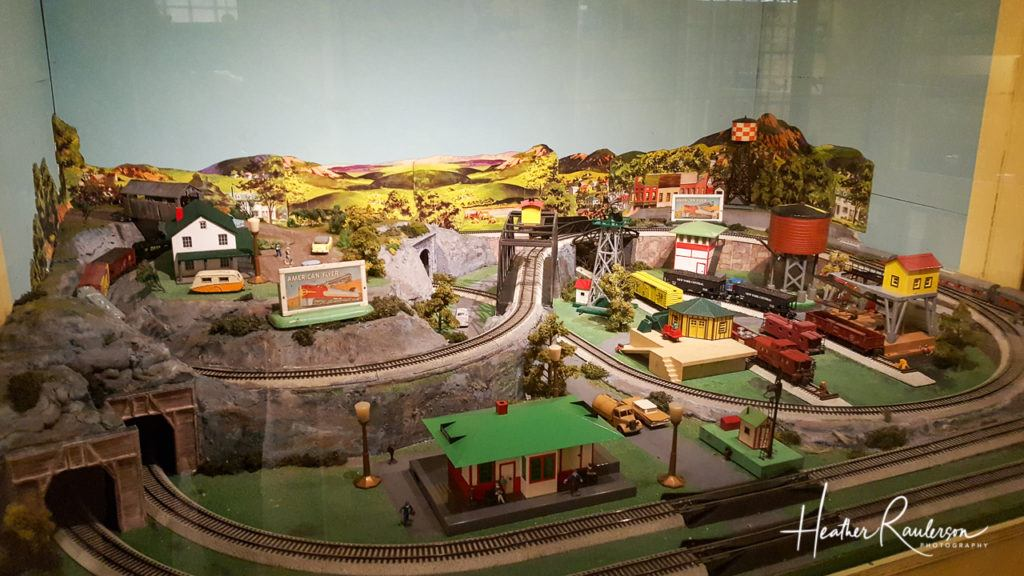 Railroad Town Display in the Toy Shop