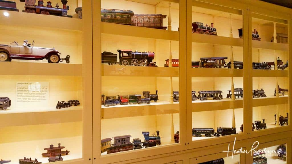 Vintage Train Collection at the Toy Shop