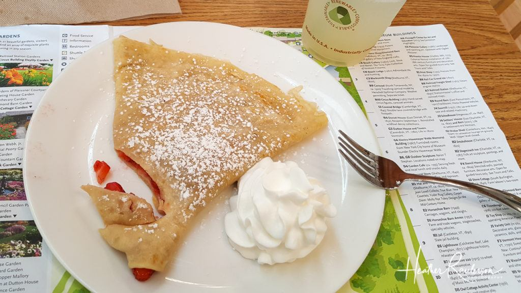 Strawberry Crepe and Lemonade at the Cafe