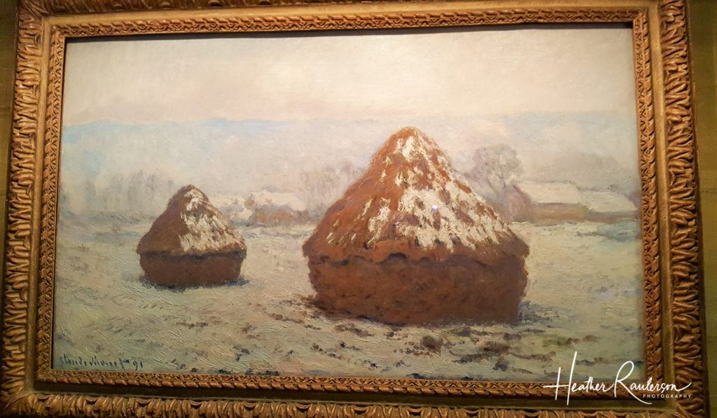 Claude Monet, Grainstacks, Snow Effect