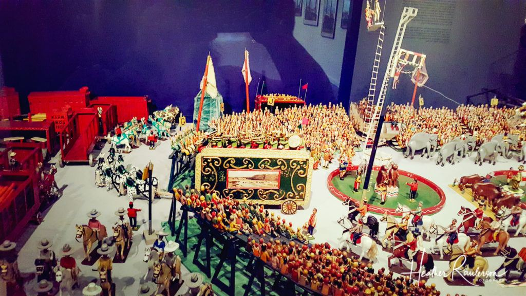 The details of the Kirk Bros. Circus Display