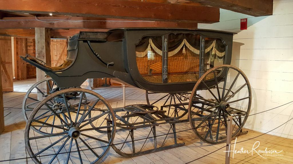 Hearse Carriage displayed in the Round Barn