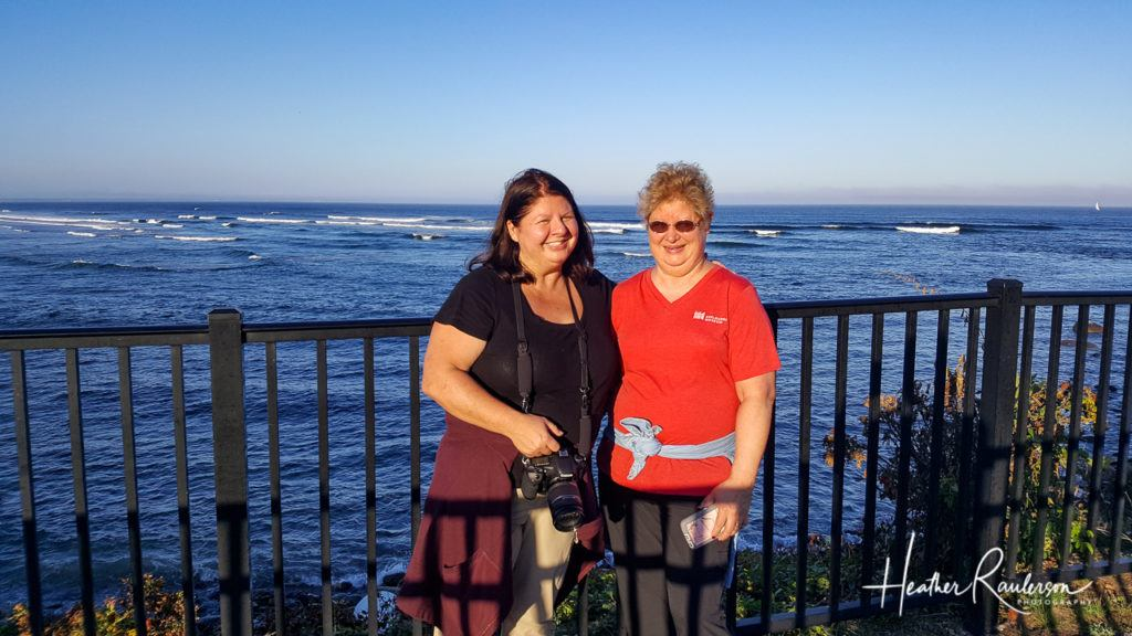 Heather and Loraine on the Ogunquit Marginal Way