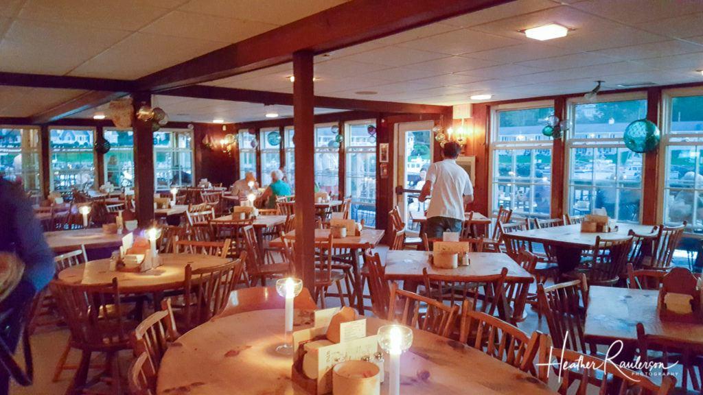 Inside the Barnacle Billy's Restaurant