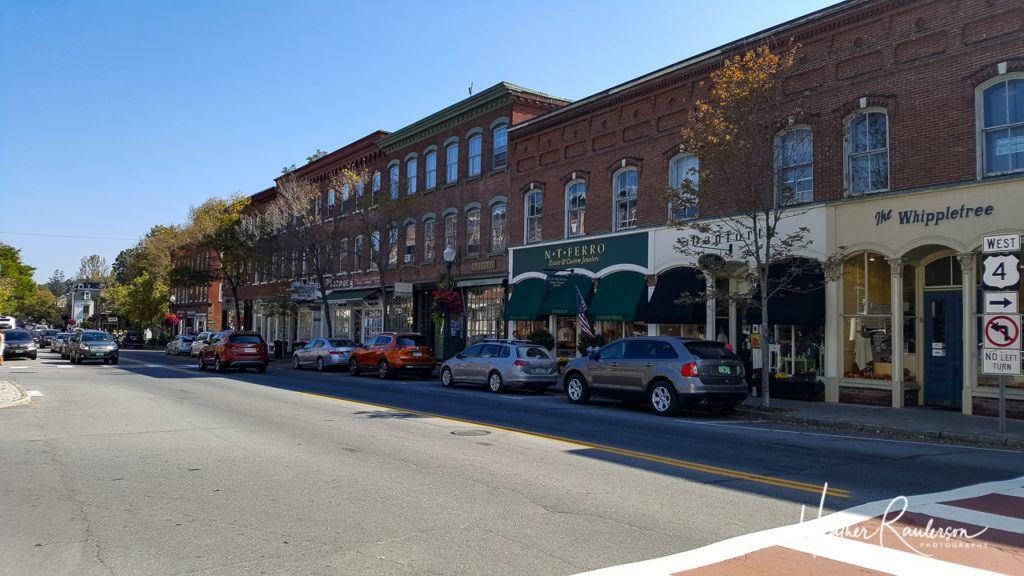Street in Downtown Woodstock, Vermont