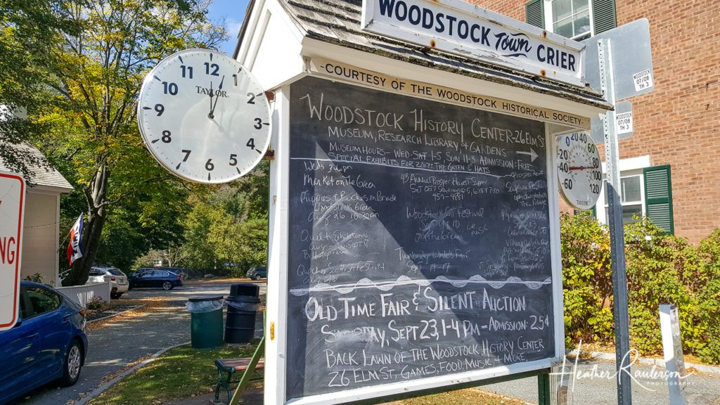Woodstock Town Crier Sign