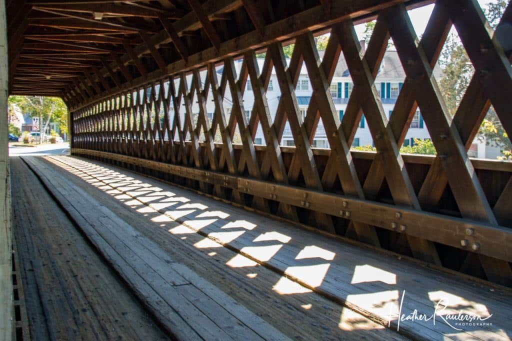 Inside the Middle Covered Bridge in Woodstock, Vermont