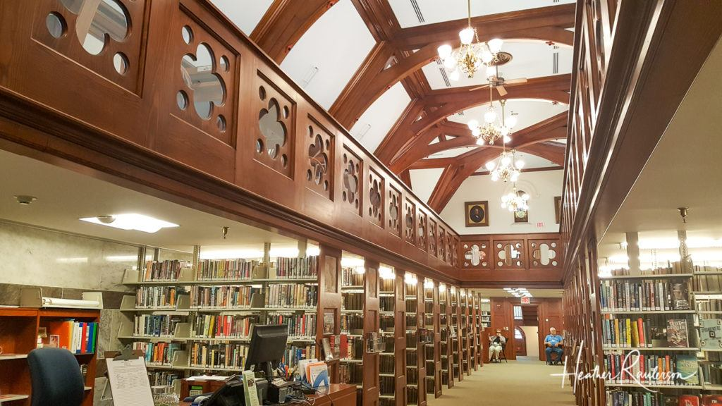 Inside the Norman Williams Public Library in Woodstock, Vermont