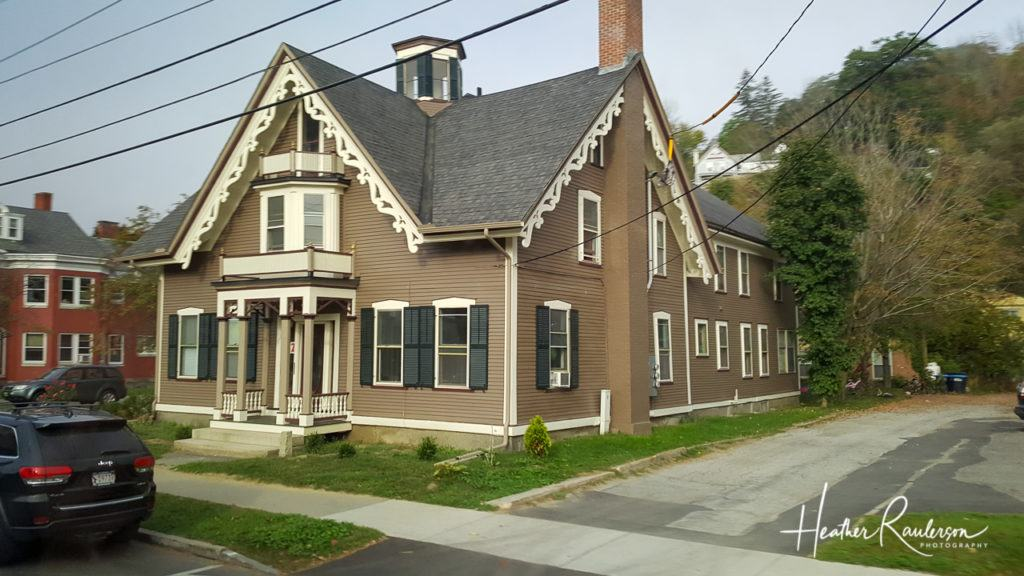 Brown house with white trim in Montpelier, Vermont