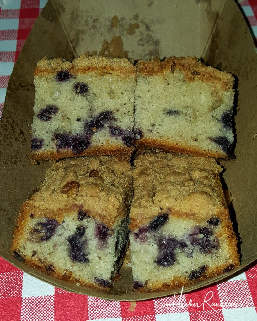 Blueberry Crumble Cake at Fosters Clambake