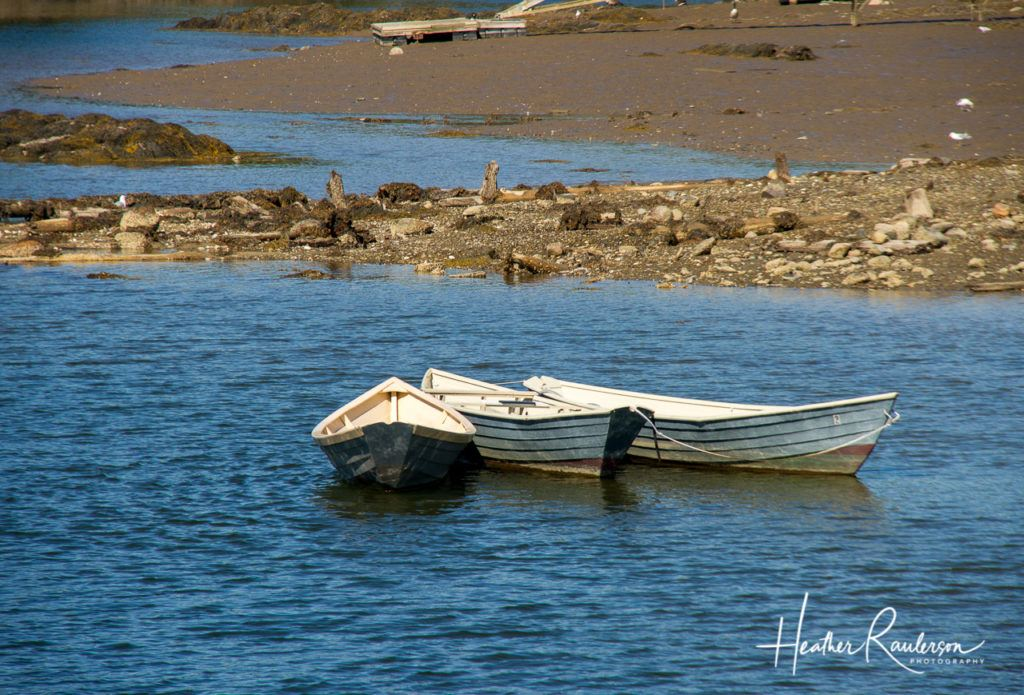 Boats in the Kennebunkport River