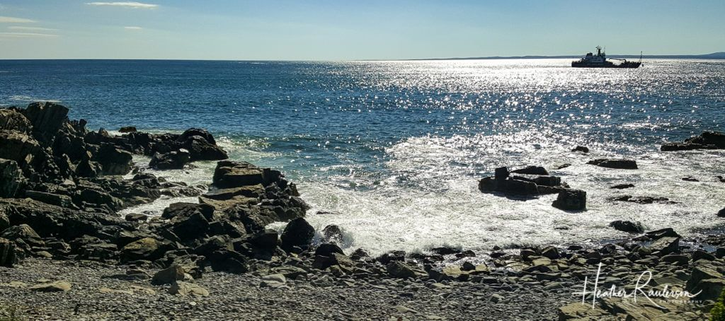 The rocky coastline in Kennebunkport