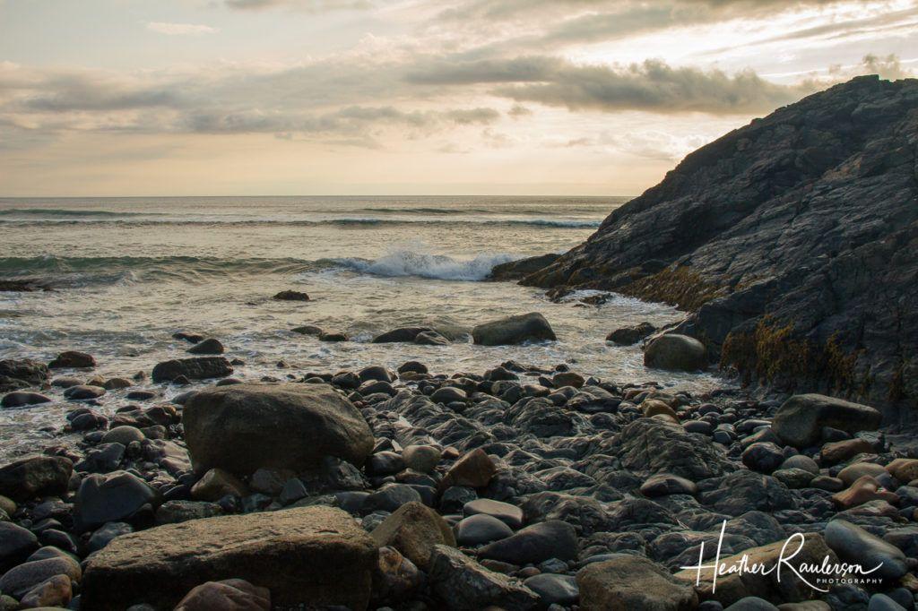 Capturing the waves coming in at sunrise at Marginal Way