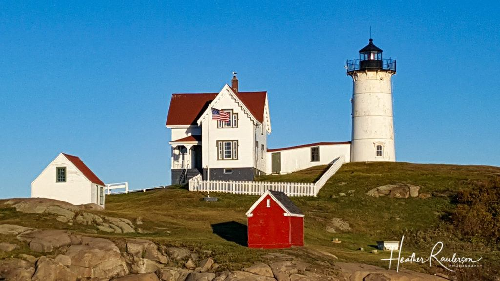 Close-up of Nubble Lighthouse