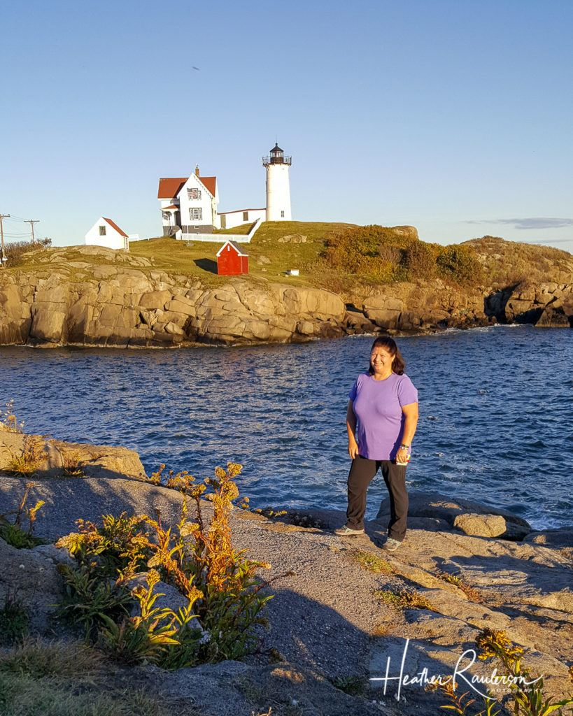 Heather at Nubble Lighthouse