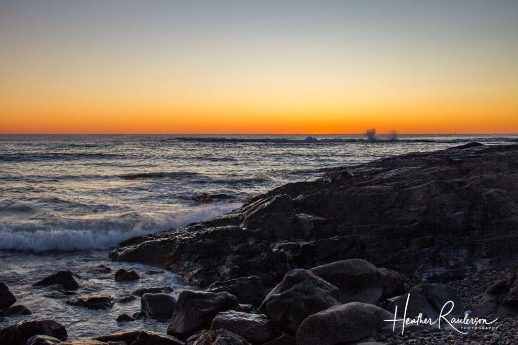 Rocky Maine Coastline at Sunrise