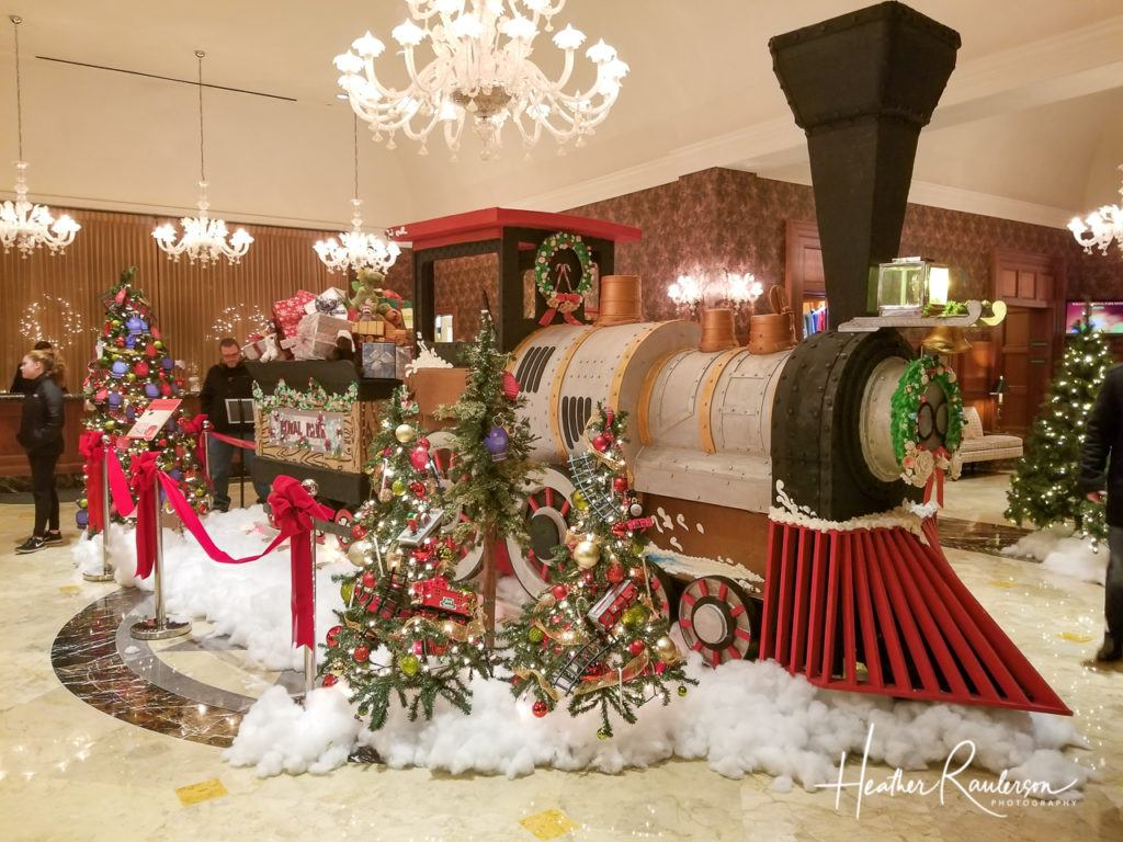 Back side of the Gingerbread Express at the Royal Park Hotel