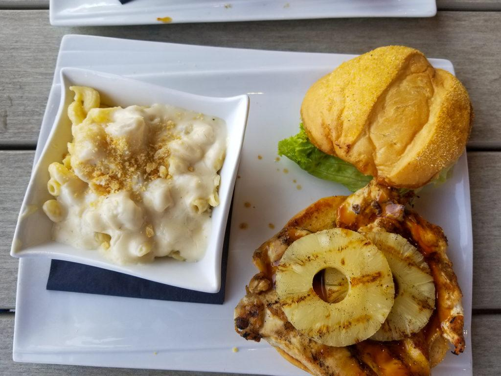 Pineapple Chicken Sandwich and Mac n Cheese at RipTydz