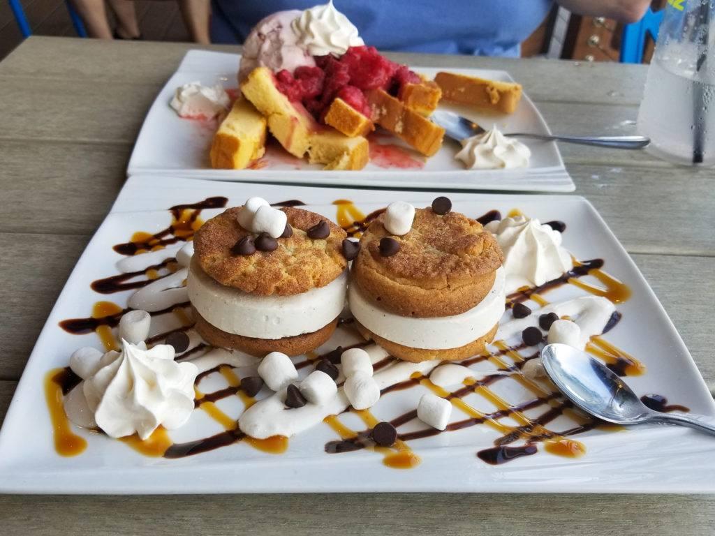 Dessert at RipTydz - Strawberry Shortcake and Ice Cream Cookie Sandwiches
