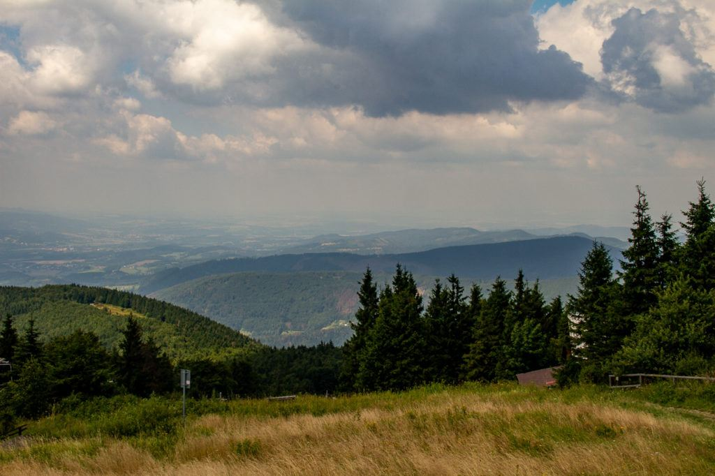 View at the top of Beskydy Mountains
