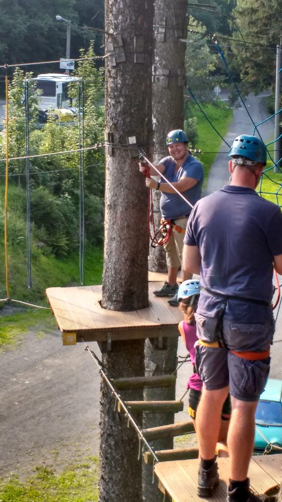 Heather on the rope course in Czech Republic