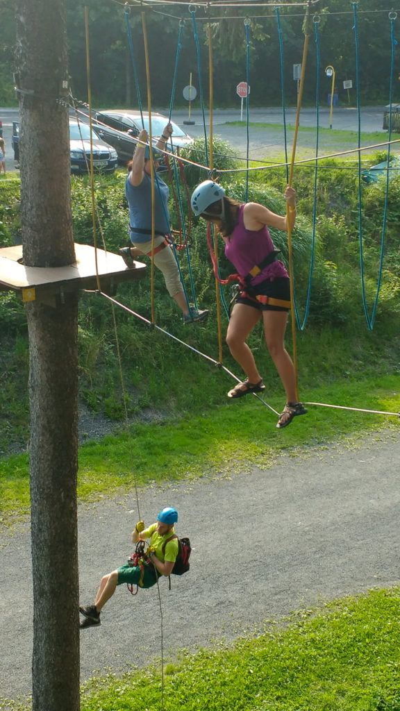 Heather on the rope course in Pustevny