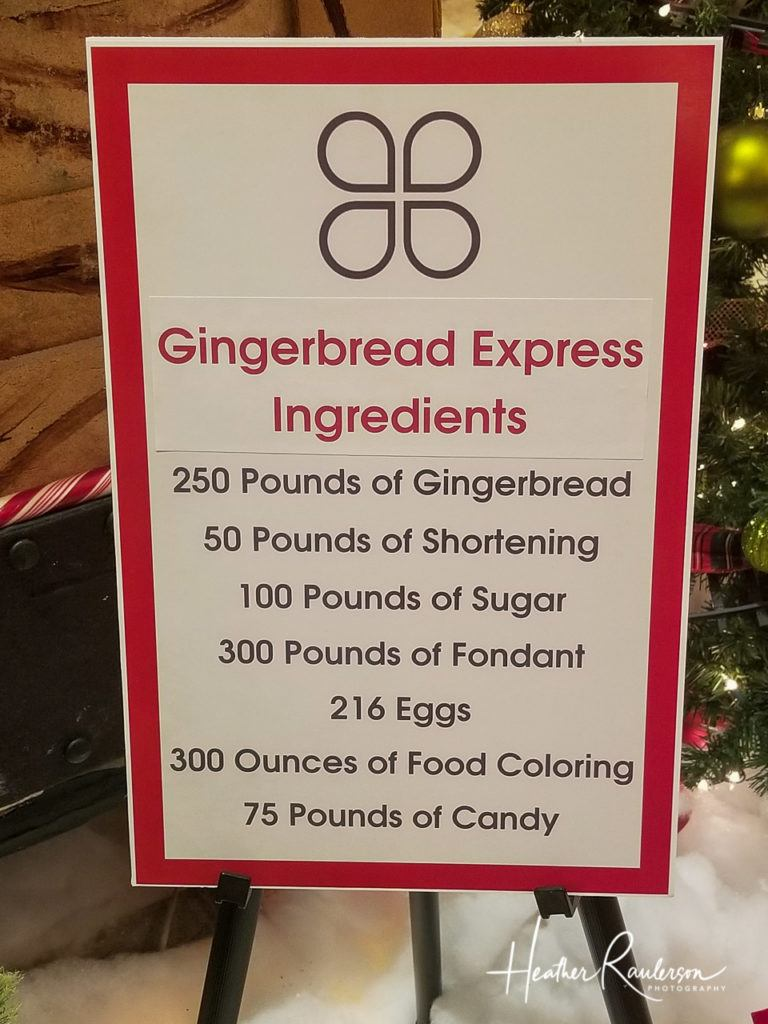 Rudolph's Christmas Train Ingredients