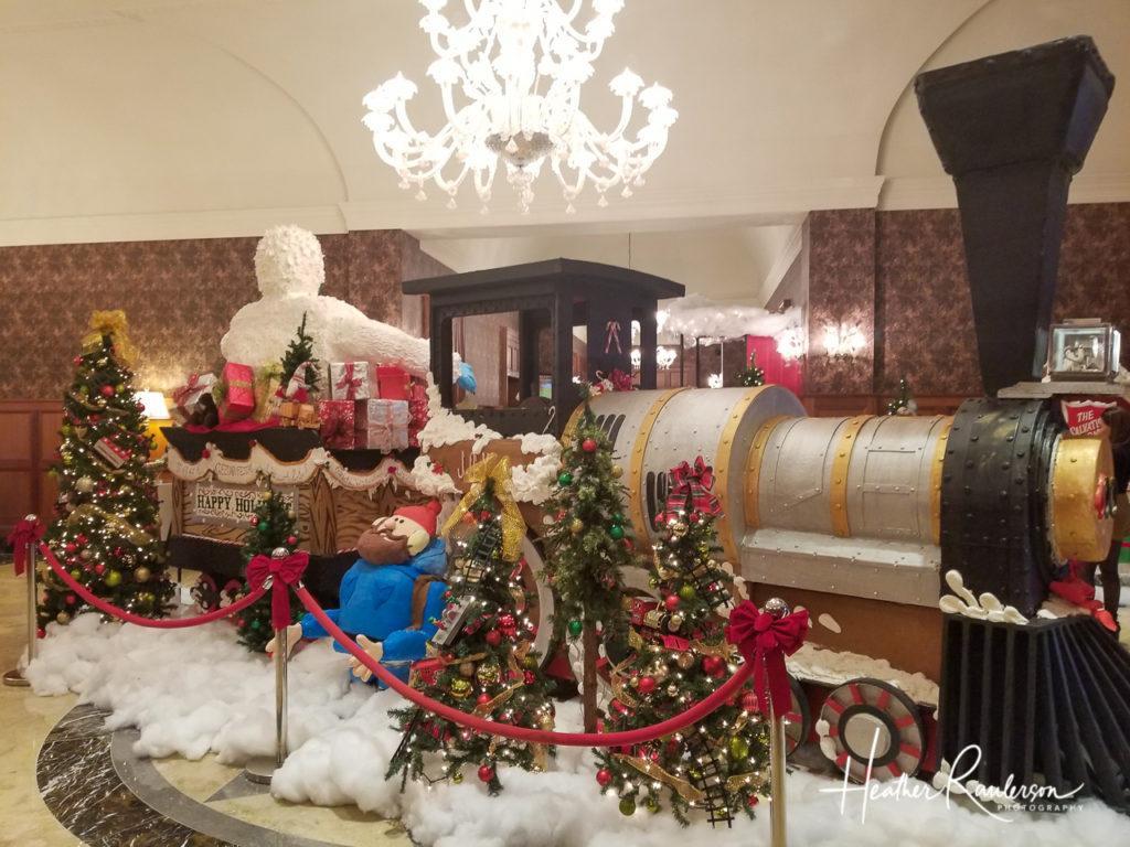 Backside of Rudolph's Christmas Train