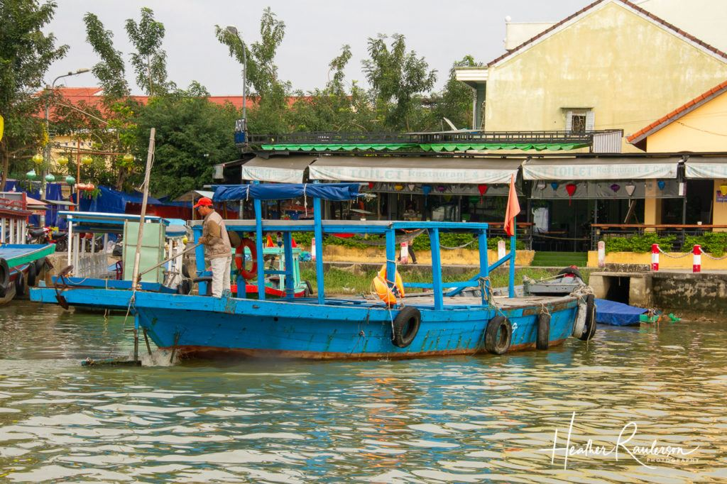 A boat on the Thu Bon River in Hoi An