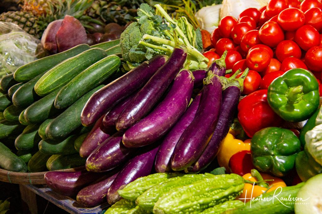 Colorful Vegetables in the Hoi An Market