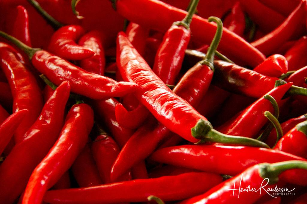 Red Chili Peppers in the Hoi An Market