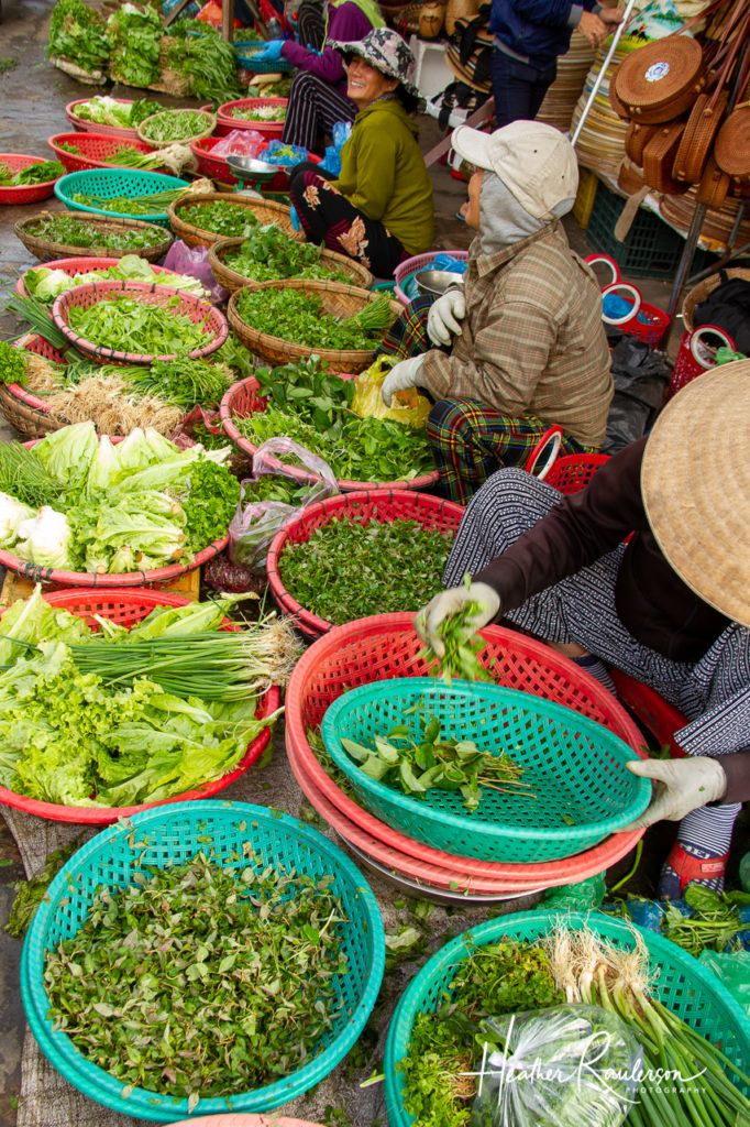 Selling Greens at the Hoi An Market