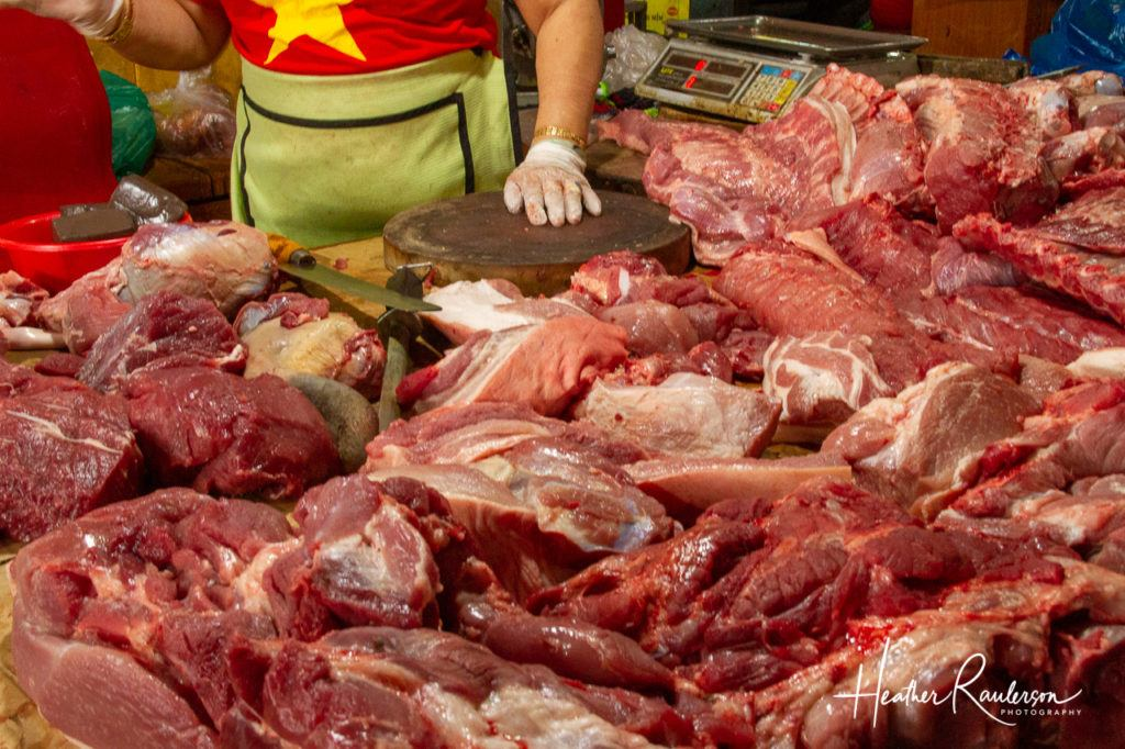 Meat at the Butchery in Hoi An