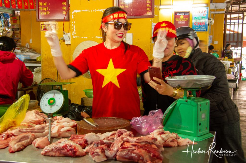 Hamming it up for the Tourists in Hoi An