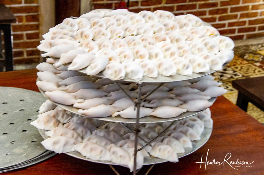 Stack of dumplings for Ms. Vy's Market Restaurant
