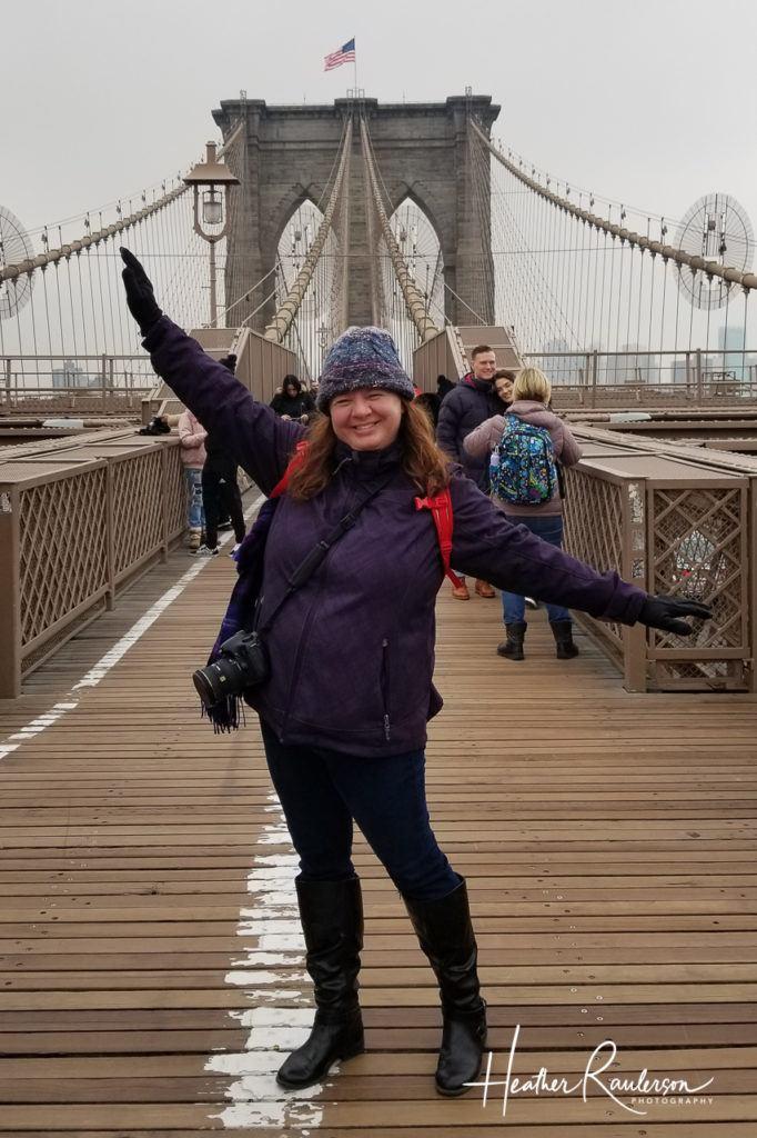 Heather on the Brooklyn Bridge