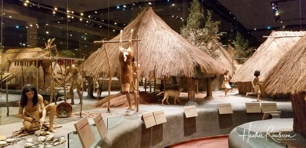 Recreated Cahokia Village