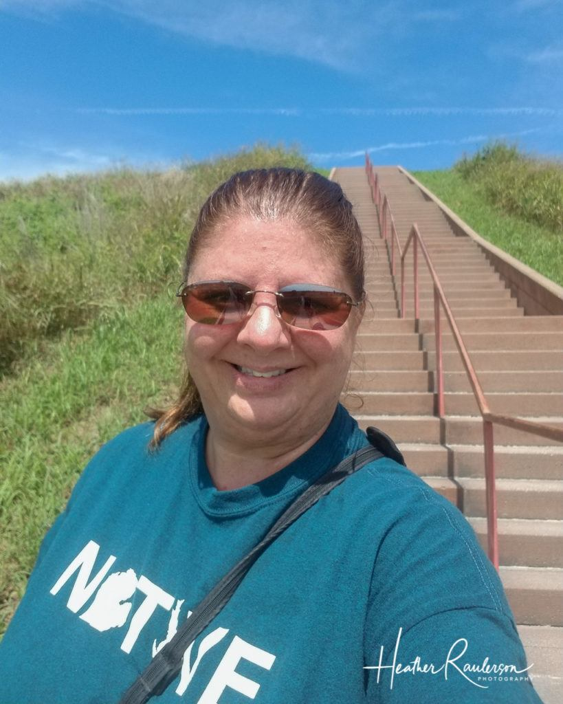 Heather at the Monks Mound