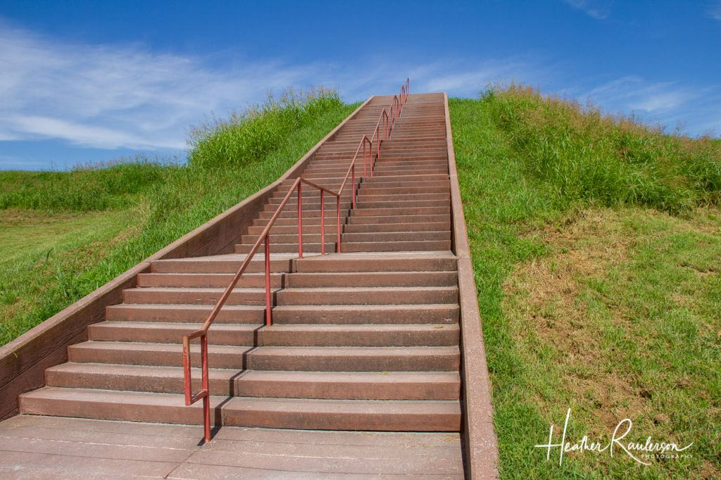 The steps for the Monks Mound at Cahokia Mounds State Historic Site