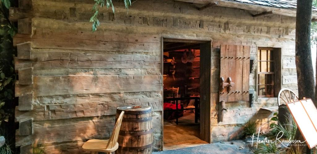 Replica of Lincoln's log cabin family home in Indiana