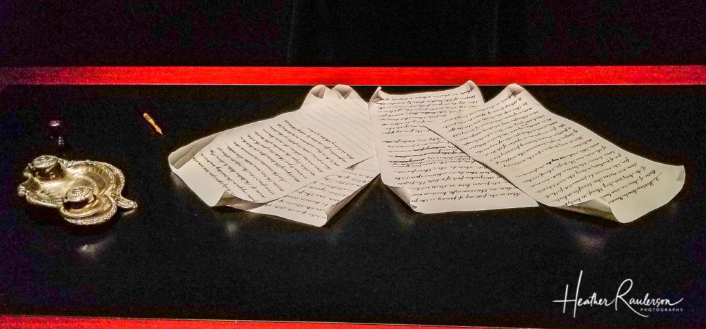 Abraham Lincoln Emancipation Proclamation draft copy at the Lincoln Museum