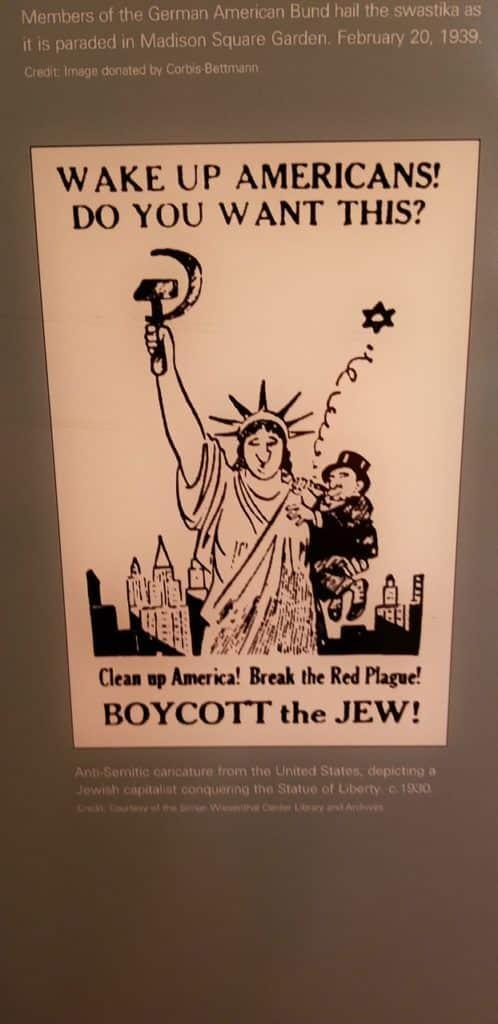 Anti-Semitic Poster at the Holocaust Memorial Center