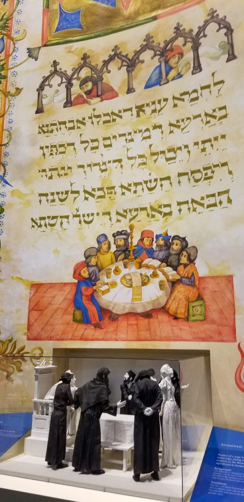 Replica of a Medieval Hebrew Manuscript and Model of a Theater
