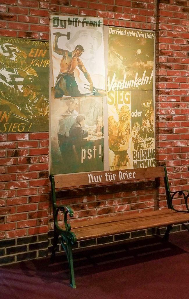 German exhibit at the Holocaust Memorial Center