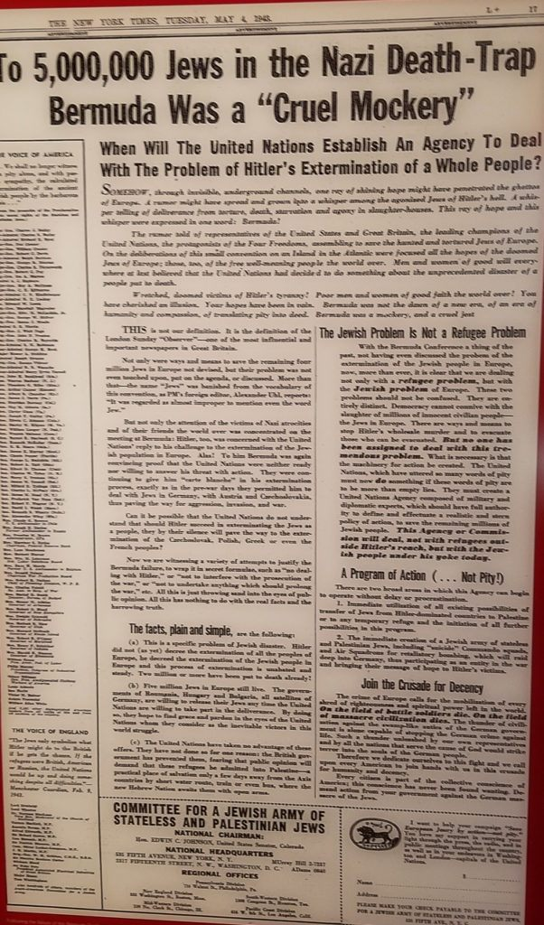 Newspaper Article in the Holocaust Memorial Center
