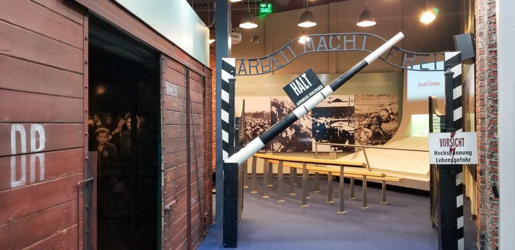 Arrival exhibit at the Holocaust Memorial Center