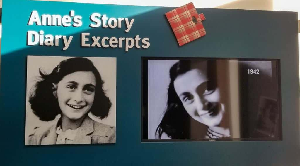 Anne Frank's Diary Excepts at the Holocaust Memorial Center