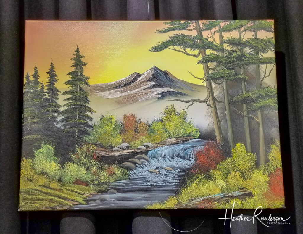 One of Bob Ross' Paintings from his Joy of Painting TV show