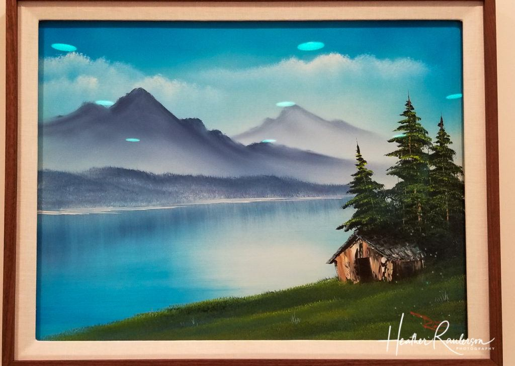 Bob Ross Mountain and Lake painting